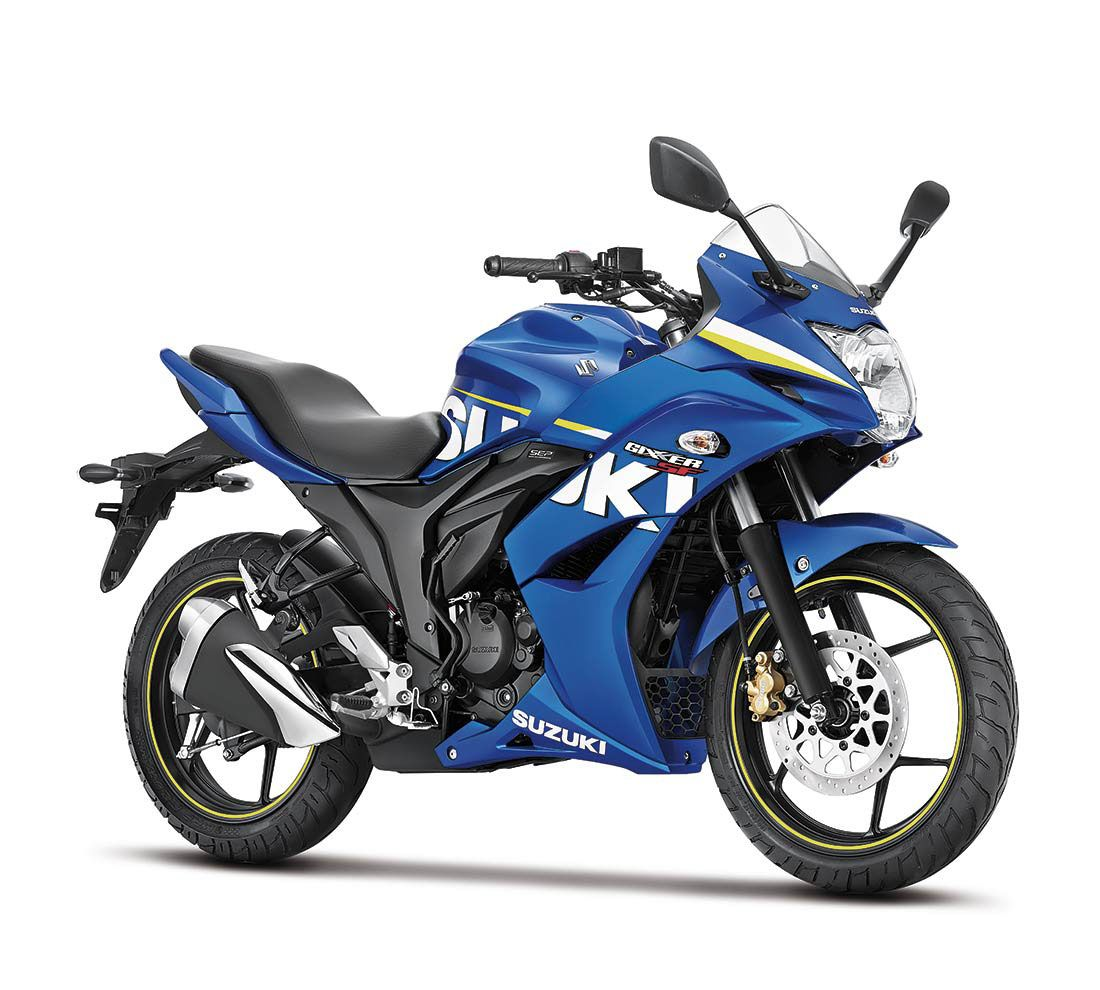 Suzuki Gixxer SF 3 4th Blue