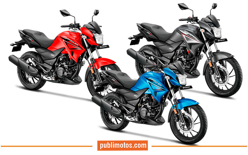 Hero Trhiller 200R Color rojo - azul - negro